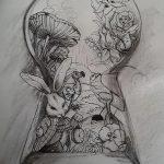 фото Эскизы тату кролик от 09.01.2018 №087 - Sketches of a rabbit tattoo - tatufoto.com