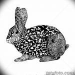 фото Эскизы тату кролик от 09.01.2018 №089 - Sketches of a rabbit tattoo - tatufoto.com