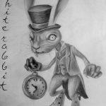 фото Эскизы тату кролик от 09.01.2018 №094 - Sketches of a rabbit tattoo - tatufoto.com
