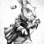 фото Эскизы тату кролик от 09.01.2018 №095 - Sketches of a rabbit tattoo - tatufoto.com