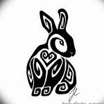 фото Эскизы тату кролик от 09.01.2018 №097 - Sketches of a rabbit tattoo - tatufoto.com