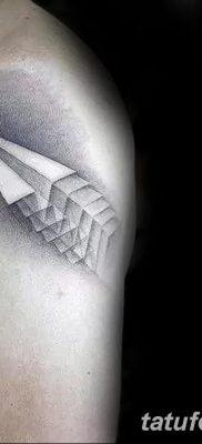 фото тату Бумажный самолетик от 23.01.2018 №005 – tattoo Paper airplane – tatufoto.com