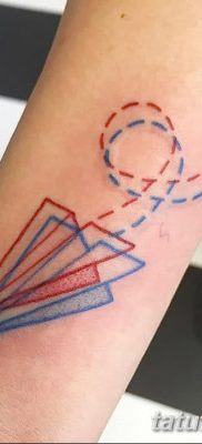 фото тату Бумажный самолетик от 23.01.2018 №008 – tattoo Paper airplane – tatufoto.com