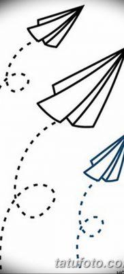 фото тату Бумажный самолетик от 23.01.2018 №015 – tattoo Paper airplane – tatufoto.com