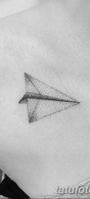 фото тату Бумажный самолетик от 23.01.2018 №019 – tattoo Paper airplane – tatufoto.com