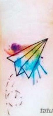 фото тату Бумажный самолетик от 23.01.2018 №034 – tattoo Paper airplane – tatufoto.com