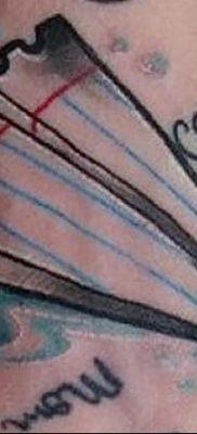 фото тату Бумажный самолетик от 23.01.2018 №053 – tattoo Paper airplane – tatufoto.com