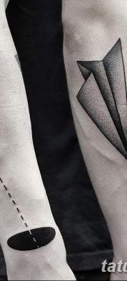 фото тату Бумажный самолетик от 23.01.2018 №089 – tattoo Paper airplane – tatufoto.com