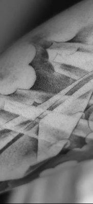 фото тату Бумажный самолетик от 23.01.2018 №090 – tattoo Paper airplane – tatufoto.com
