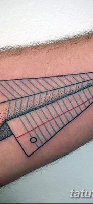 фото тату Бумажный самолетик от 23.01.2018 №093 – tattoo Paper airplane – tatufoto.com