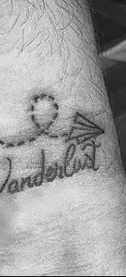 фото тату Бумажный самолетик от 23.01.2018 №138 – tattoo Paper airplane – tatufoto.com