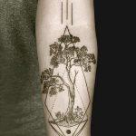 фото тату геометрия от 13.01.2018 №057 - tattoo geometry - tatufoto.com