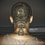 фото тату на затылке от 08.01.2018 №016 - tattoo on the back of the head - tatufoto.com