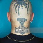 фото тату на затылке от 08.01.2018 №017 - tattoo on the back of the head - tatufoto.com