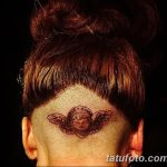 фото тату на затылке от 08.01.2018 №025 - tattoo on the back of the head - tatufoto.com