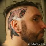 фото тату на затылке от 08.01.2018 №026 - tattoo on the back of the head - tatufoto.com