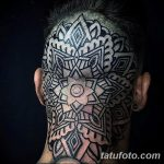 фото тату на затылке от 08.01.2018 №055 - tattoo on the back of the head - tatufoto.com