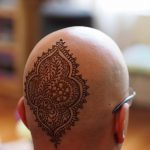 фото тату на затылке от 08.01.2018 №086 - tattoo on the back of the head - tatufoto.com