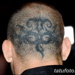 фото тату на затылке от 08.01.2018 №109 - tattoo on the back of the head - tatufoto.com