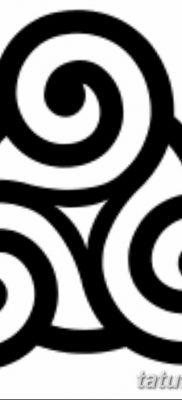 фото тату трискели от 09.01.2018 №001 – triskelion tattoo – tatufoto.com