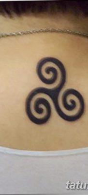 фото тату трискели от 09.01.2018 №051 – triskelion tattoo – tatufoto.com