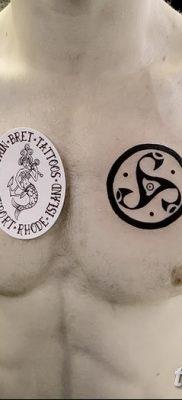 фото тату трискели от 09.01.2018 №077 – triskelion tattoo – tatufoto.com