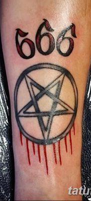 фото тату 666 от 16.01.2018 №021 – tattoo 666 – tatufoto.com
