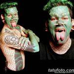 фото Змеиный язык у человека от 02.02.2018 №012 - Snake tongue in man - tatufoto.com