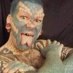 фото Змеиный язык у человека от 02.02.2018 №039 - Snake tongue in man - tatufoto.com