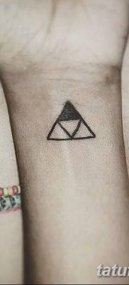 фото Значение тату три треугольника от 13.02.2018 №004 – three triangle tatto – tatufoto.com