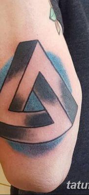 фото Значение тату три треугольника от 13.02.2018 №007 – three triangle tatto – tatufoto.com