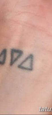 фото Значение тату три треугольника от 13.02.2018 №023 – three triangle tatto – tatufoto.com