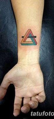 фото Значение тату три треугольника от 13.02.2018 №027 – three triangle tatto – tatufoto.com