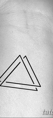 фото Значение тату три треугольника от 13.02.2018 №034 – three triangle tatto – tatufoto.com