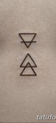 фото Значение тату три треугольника от 13.02.2018 №041 – three triangle tatto – tatufoto.com