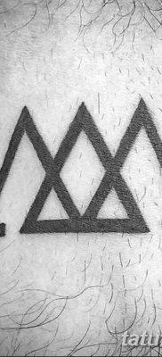 фото Значение тату три треугольника от 13.02.2018 №047 – three triangle tatto – tatufoto.com