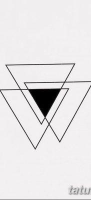 фото Значение тату три треугольника от 13.02.2018 №057 – three triangle tatto – tatufoto.com