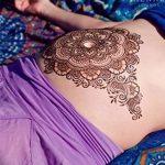 фото Мехенди на животе от 12.02.2018 №004 - Mehendi on the stomach - tatufoto.com