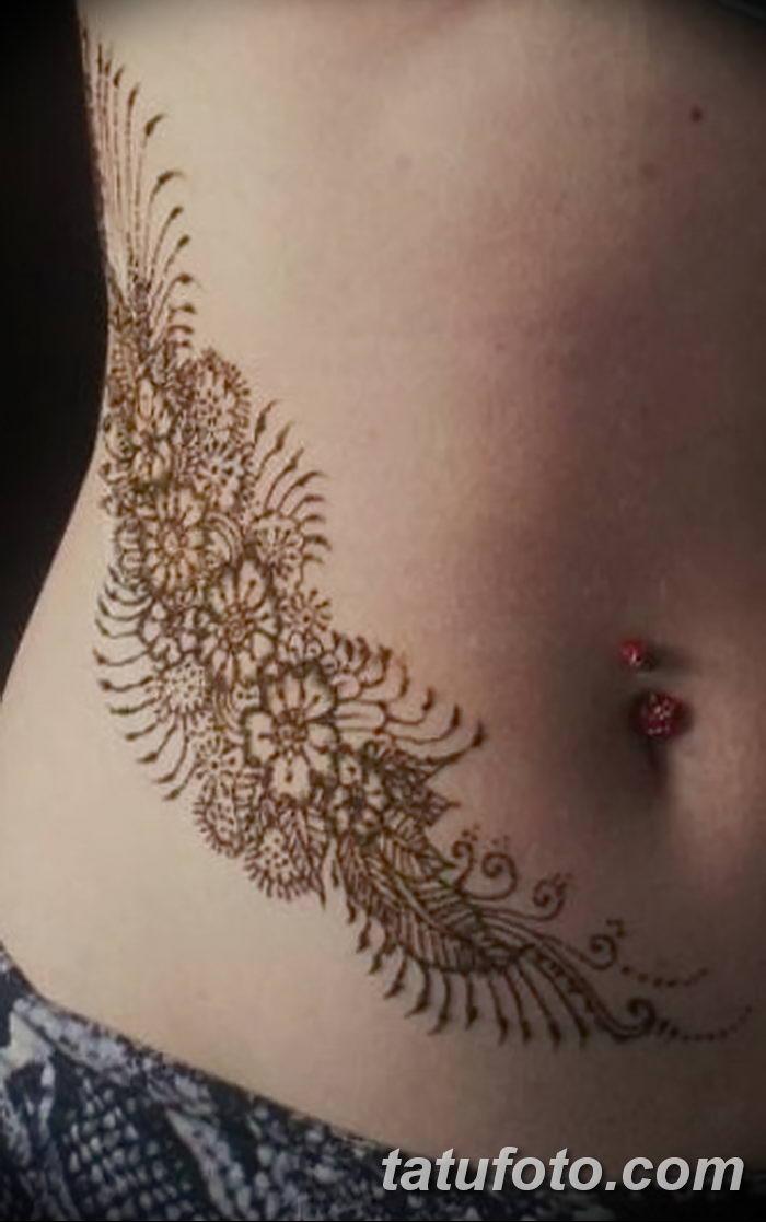 фото Мехенди на животе от 12.02.2018 №031 - Mehendi on the stomach - tatufoto.com
