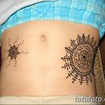 фото Мехенди на животе от 12.02.2018 №039 - Mehendi on the stomach - tatufoto.com