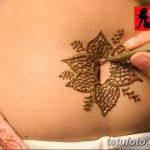 фото Мехенди на животе от 12.02.2018 №074 - Mehendi on the stomach - tatufoto.com