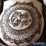 фото Мехенди на животе от 12.02.2018 №114 - Mehendi on the stomach - tatufoto.com