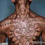 фото Мехенди (рисунки хной) на грудной клетке от 13.02.2018 №017 - 1 - tatufoto.com