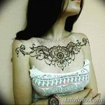 фото Мехенди (рисунки хной) на грудной клетке от 13.02.2018 №041 - 1 - tatufoto.com