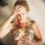 фото Мехенди (рисунки хной) на грудной клетке от 13.02.2018 №057 - 1 - tatufoto.com