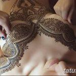 фото Мехенди (рисунки хной) на грудной клетке от 13.02.2018 №058 - 1 - tatufoto.com