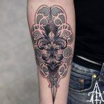фото Тату в стиле Барокко от 09.02.2018 №011 - Baroque tattoo - tatufoto.com