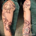фото Тату в стиле Барокко от 09.02.2018 №025 - Baroque tattoo - tatufoto.com
