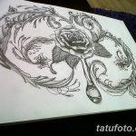 фото Тату в стиле Барокко от 09.02.2018 №065 - Baroque tattoo - tatufoto.com