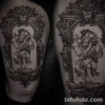 фото Тату в стиле Барокко от 09.02.2018 №073 - Baroque tattoo - tatufoto.com